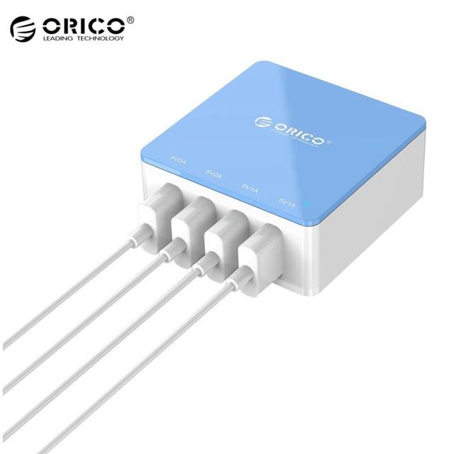 Оригинал ORICO 4 Порты и разъёмы USB Desktop Зарядное устройство интеллектуальная IC Мощность универсальный для iPhone мобильного телефона таблетки usb устройств
