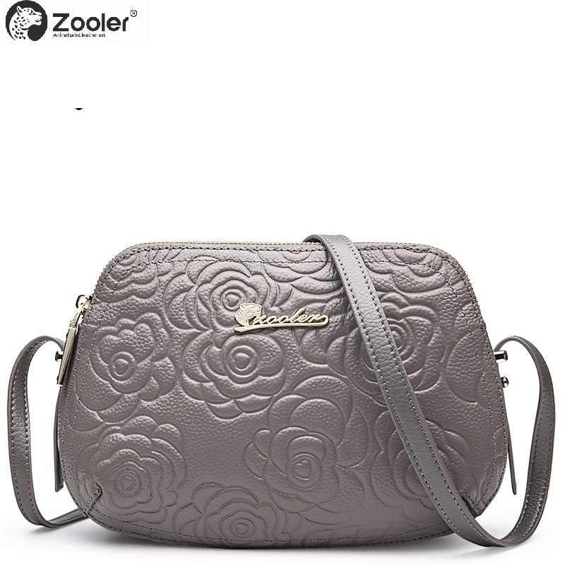 4ff70302c082 2018 hot genuine leather bag ZOOLER woman shoulder bags real leather cross  body embossed women messenger bag bolsa feminina#2355
