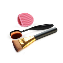 3pcs/set profesional cosmetic toothbrush flat head mask wash egg makeup brush beauty tool cleaner kit blending powder sgm naked