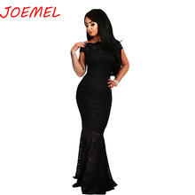Womens Dress Off Shoulder Formal Elegant Lace Sexy Dresses Off-shoulder Shiny Party  Fishtail