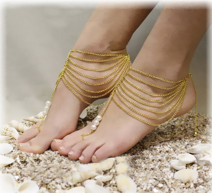 2015 High Quality Chic Girl Foot Jewelry Metal Pulseras Tobilleras
