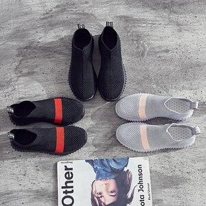 Image 5 - Baskets extensibles pour femmes, chaussures de danse souples, tendance, maille antidérapante, tendance respirante, automne, décontracté