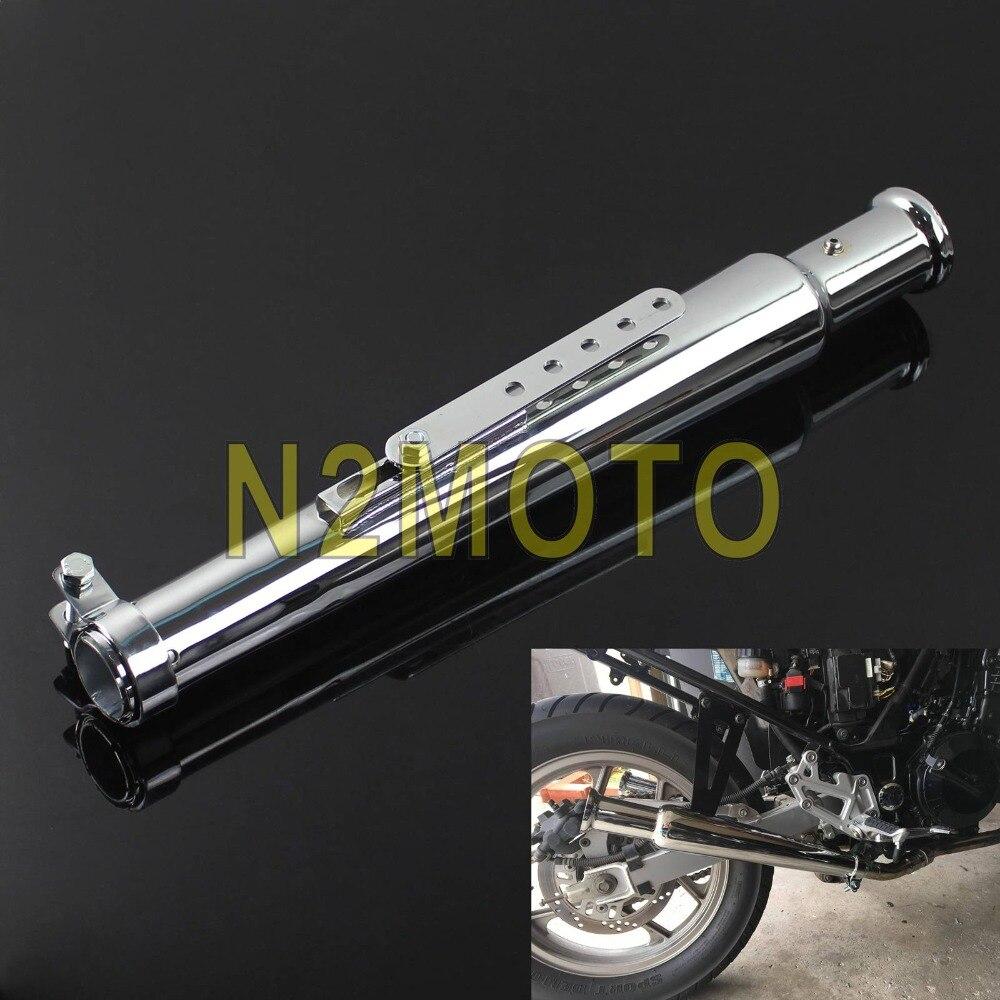 Vintage trompette silencieux 540mm Cocktail Shaker tuyau d'échappement balayé pour Harley Chopper café Racer Triumph brouillette