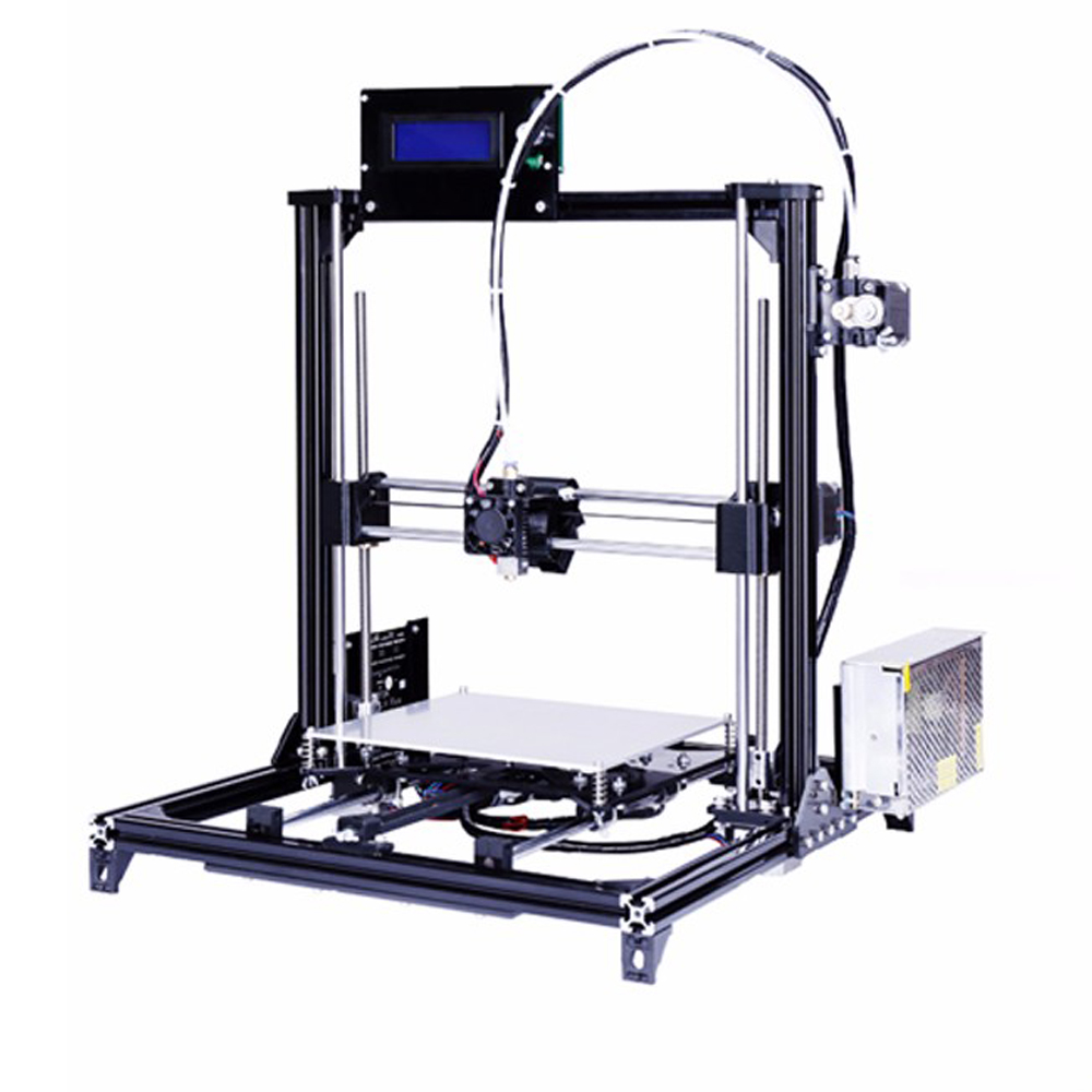 2016 New Aluminium Structure Prusa i3 3D Printer,Large Printing Size DIY 3d Printer Kit With 2 Rolls Filament 2G SD Card