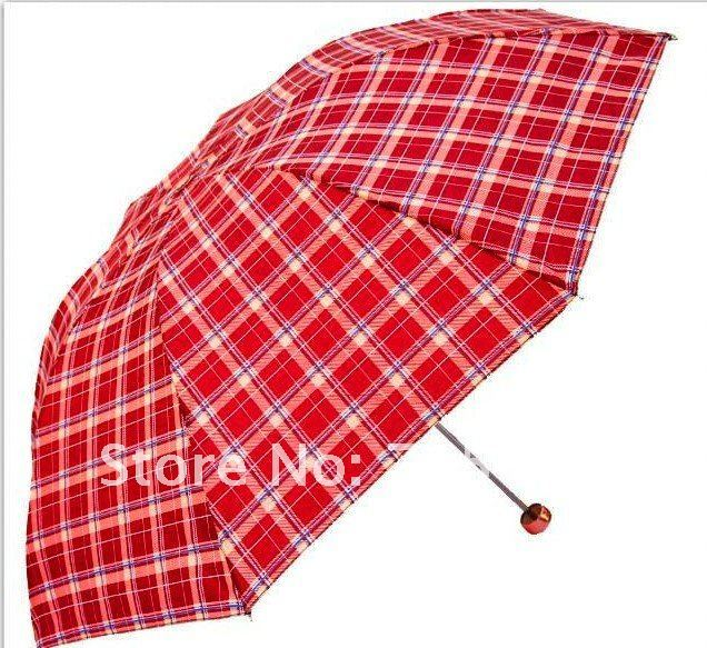 2012 hot selling free shipping   3 folded sun or rain umbrella for men and women