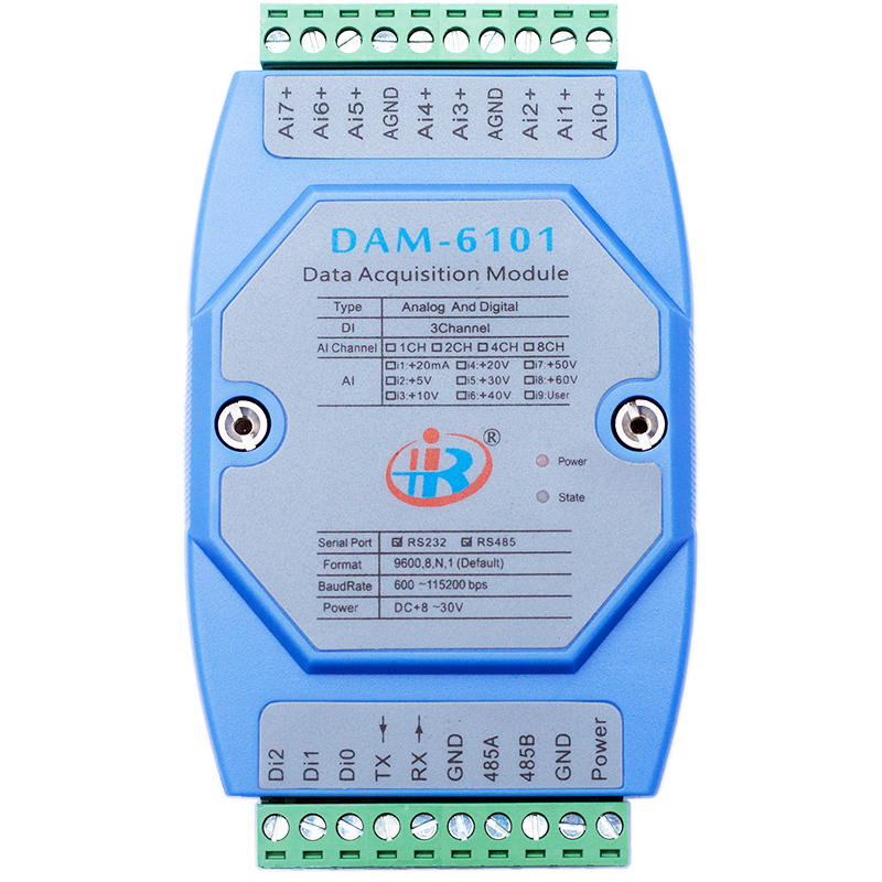 DAM6101 Mixed Analog Digital Input Data Acquisition Module Modbus Voltage Current Converter