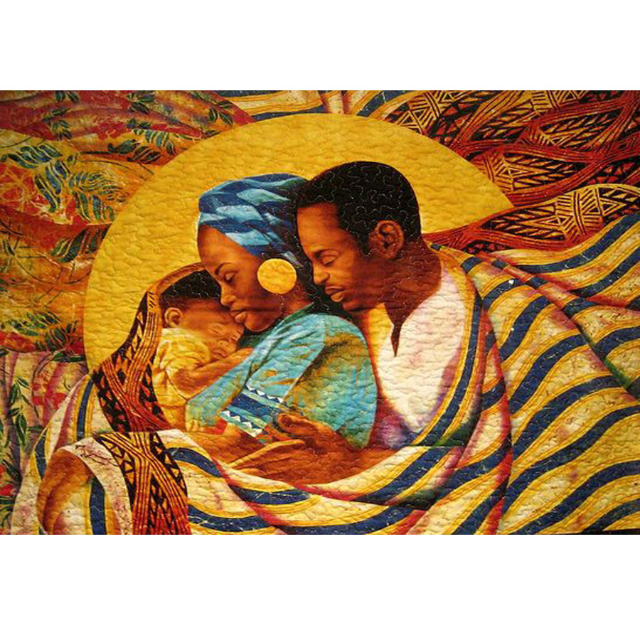 DIY 5D diamond painting mosaic African sweet family pattern cross stitch suite, diamond embroidery baby picture by numbers decor