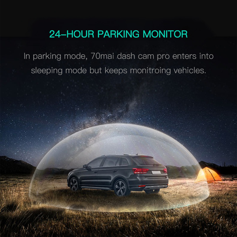New 70mai Pro 70mai Dash Cam Pro 1944P GPS 70mai Car Cam Pro English Voice Control 24H Parking Monitor 140FOV Night Vision Wifi 1