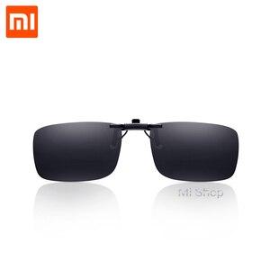 Image 1 - Xiaomi TS clip sunglasses TAC Lens 10g Zinc alloy 110 Degree random upturn Eye Protector Mijia Outdoor Travel Xiaomi sunglasses