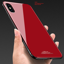 Tempered glass Case for iphone XS Max Mirror Surface Glass Back Cover XR X 7 8 Plus Soft Bumper