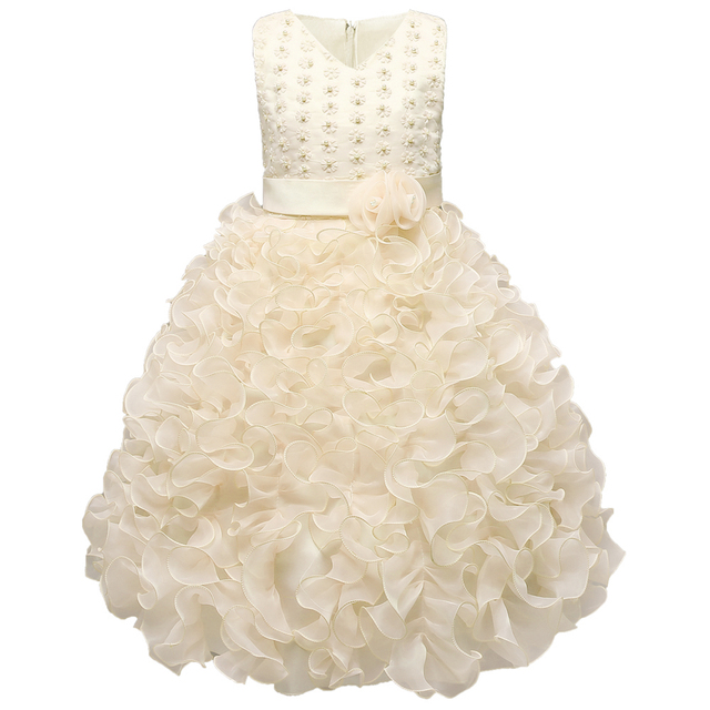 Luxury Baby Girls Dress Kids Wedding Birthday Dresses Girls Events