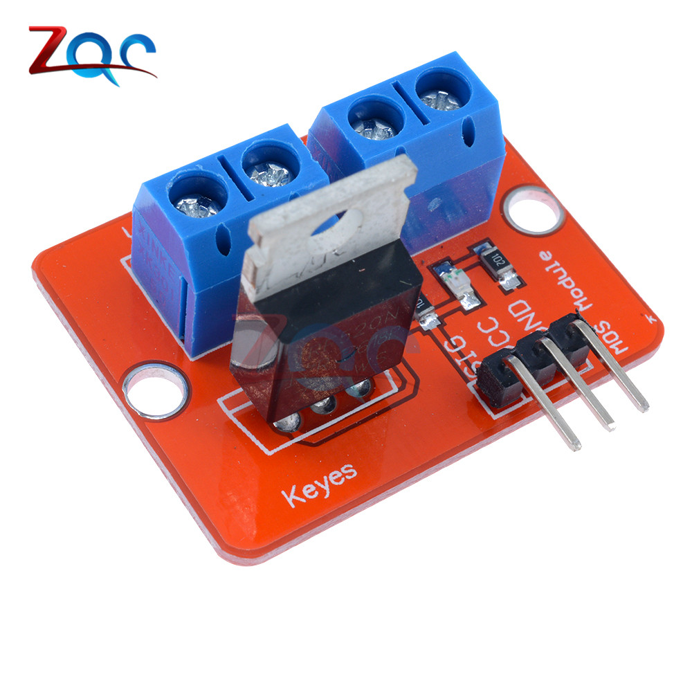 Top Mosfet Button IRF520 Mosfet Driver Module For Arduino MCU ARM For Raspberry Pi 3.3V-5V IRF520 Power MOS PWM Dimming LED tengying l298n motor driver board for raspberry pi red