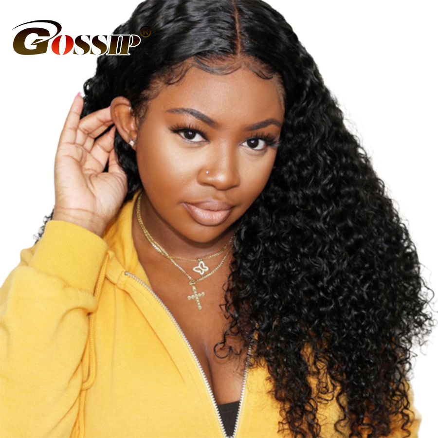 Afro Kinky Curly Human Hair Wig 13x4 Lace Front Human Hair Wigs For Black Women 100