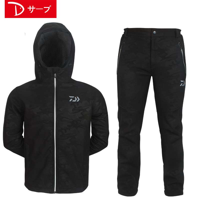 2017 NEW DAIWA Fishing Autumn And Winter DAWA clothes coat suit Plus velvet Keep warm outdoors waterproof DAIWAS Free shipping hedging models breathable cool xihansugan fishing clothes fishing clothes male mosquito fish suit