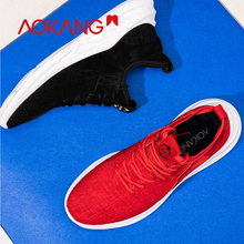 AOKANG 2018 Spring Summer trainers men fashion Casual Shoes Comfortable Mesh Platform Shoes men comfortable  Zapatos de Hombre