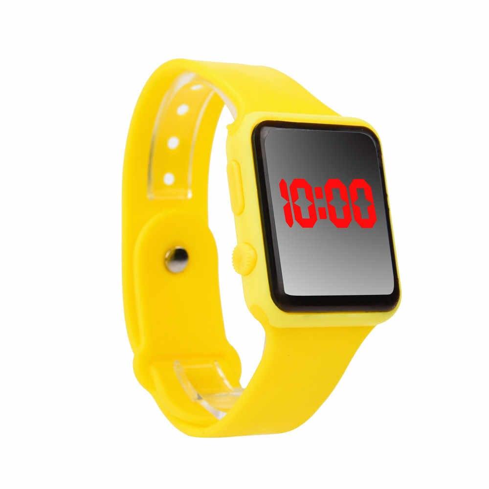 יוניסקס ילדים סטודנטים בני בנות גומי אדום LED שעון תאריך זמן לרוץ ספורט צמיד דיגיטלי יד מפעל מחיר שעונים Reloj dep