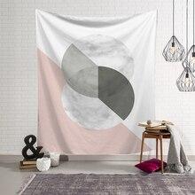 Marble Print Tapestry Wall Hanging Nordic Bohemia Geometric Modern Macrame Tapestry Abstract Art Living Room Dorm Decor Blanket все цены