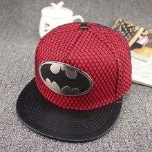 High quality  Hot! 2015 Fashion Summer Brand Batman Baseball Cap Hat For Men Women Casual Bone Hip Hop Snapback Caps adjustable