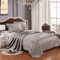 Textile de maison argent gris couette couvre-lit couette D'été rose couverture roi literie 3 pcs (un édredon + deux taies d'oreiller) lit couverture