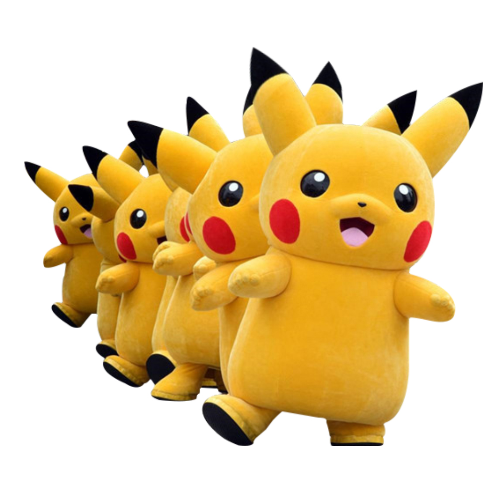 Cosplay Costumes  Pikachu Pokemon Mascot Costume Fancy Dress Outfit Free Shipping