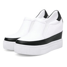 2019 Trainers Outside Sneakers Women Tennis Shoes Cow Leather High Heel Punk Pumps Wedges Platform Oxfords Casual
