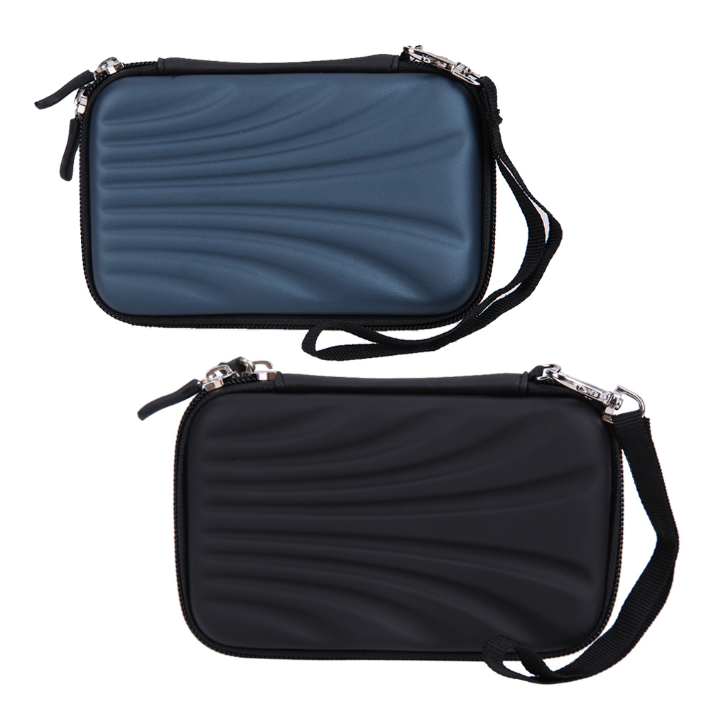 PTSP Shell Waterproof Portable external 2.5inch hdd bag case External Hard Disk Drive Bag EVA PU Carry Case Pouch Cover Pocket