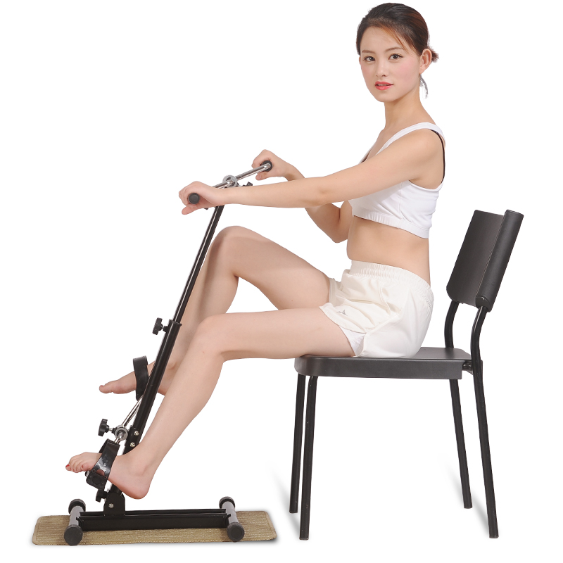 Old man machine stroke hemiplegia rehabilitation equipment and training cerebral infarction onset of fitness bike upper lower limbs physiotherapy rehabilitation exercise therapy bike for serious hemiplegia apoplexy stroke patient lying in bed