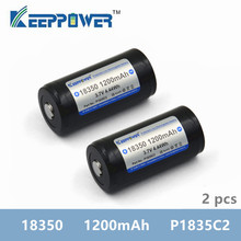 2 pcs KeepPower 1200mAh 18350 P1835C2 protected li ion rechargeable battery drop shipping original batteria