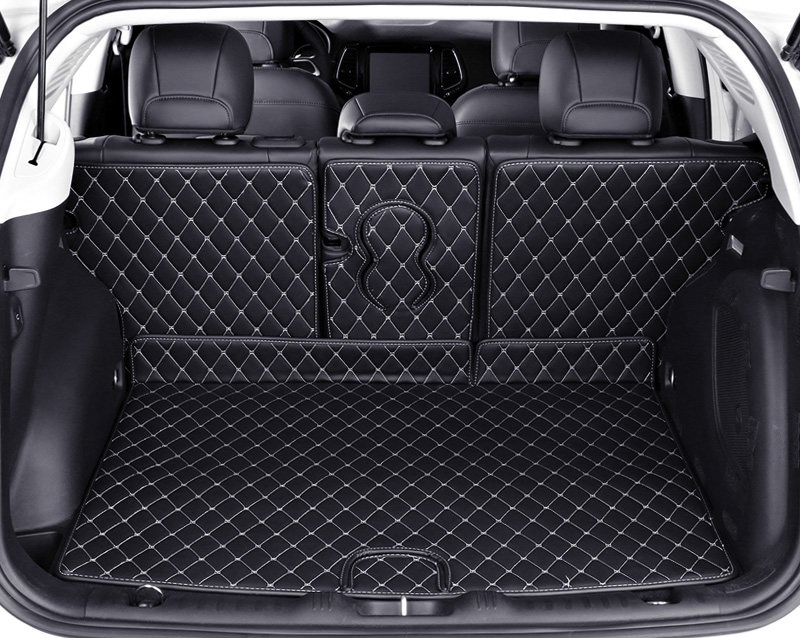 For Jeep Compass 2017 Rear Boot Cargo Trunk Mat Pad Carpets 1set High equipped or Low equipped Car Styling accessories! car rear trunk security shield cargo cover for ssangyong rexton ii w 2008 2017 high qualit black beige auto accessories
