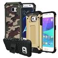 Kickstand Противоударный антидетонационные Броня Тонкий Жесткий Прочная Резиновая Case Cover для Samsung Galaxy S5 S6 S7 edge G530 A3 A5 2016