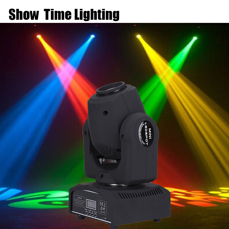 Fast Delivery 30w Mini Dj Led Disco Gobo Moving Head Spot Light Club Dj Stage Lighting Party Disco Moving Heads Light
