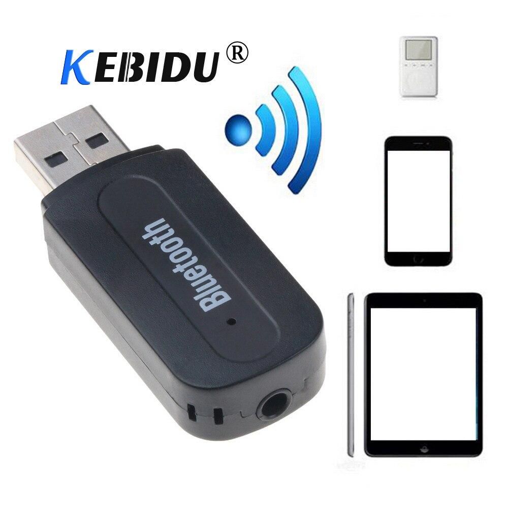 Kebidu Mini 3.5mm Jack Audio Bluetooth Receiver Wireless USB Music Adaptor A2DP Dongles For Car