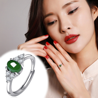 2020 Women Anillos Rings Time limited Anel Masculino Ring Hetian Female Paragraph 925 Fine Inlaid Contracted Personality Joint