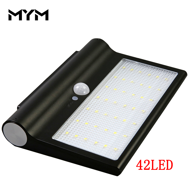 Solar Garden Light Motion Sensor Garden Decorative Lamp Aluminum 42 LED Solar Light Outdoor Waterproof Solar Lamp ...