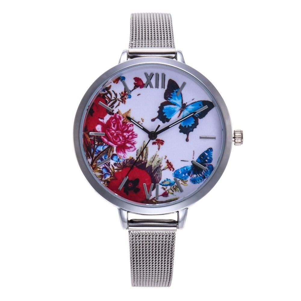 2018 Hot Sale Fashion Women Watch Stainless Steel Multi Pattern Mesh Unique Simple Watches Casual Quartz Clock Relogio Feminino