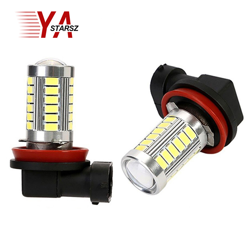 1Pcs Car Led H11 Fog Lights High Power Headlight Bulbs White 12V 18W 5630 SMD 6000K DRL Driving Light Daytime Running Light dc12v h7 7 5w 5led led fog light high power car auto led xenon white daytime running light bulbs headlight head lights