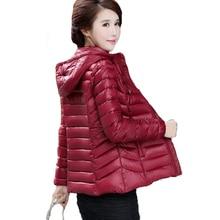 2017 женские зимние куртка с капюшоном тонкий большие размеры хлопковая стеганая куртка женская верхняя одежда короткие женские Inverno jaqueta feminina