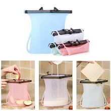 Food Grade Fresh Preservation Saran Bag High Temperature Silicone Storage Bag Sealed Bag Refrigerator Meat Fruit Food Bag стоимость