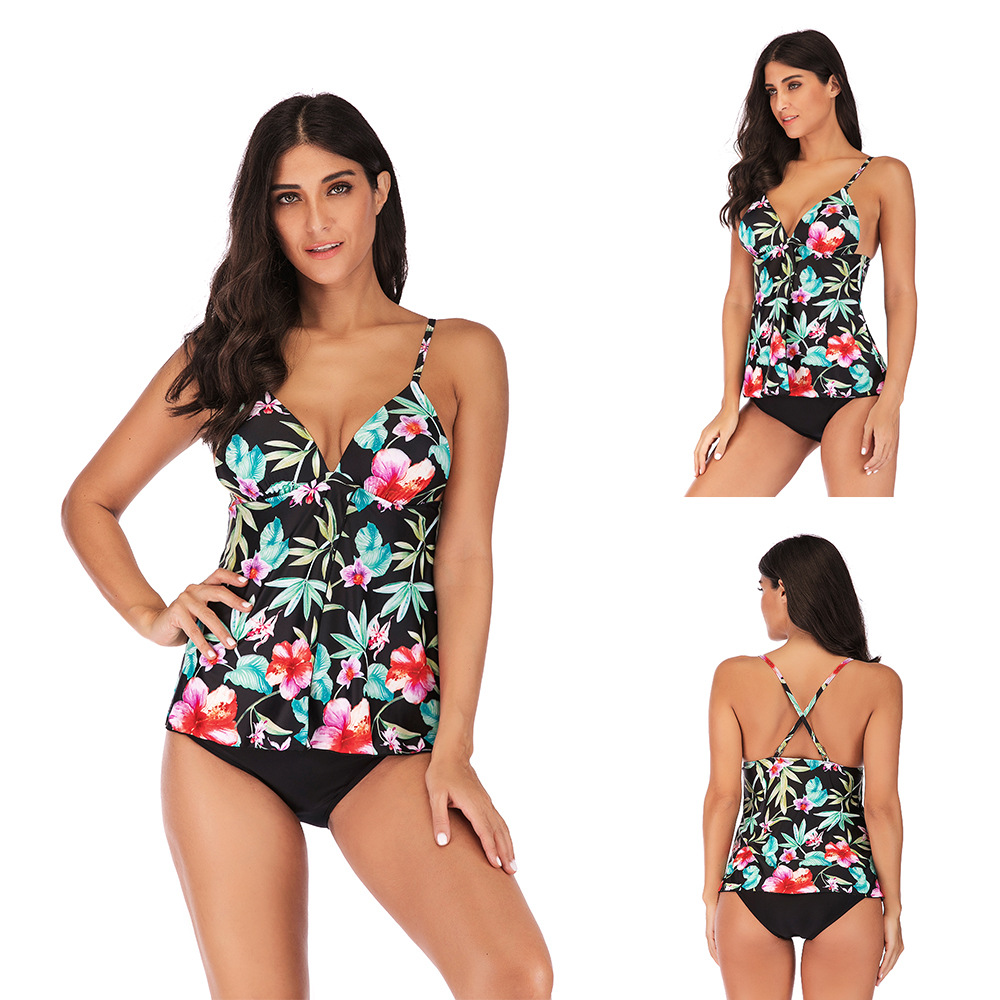 S-5XL Swimwear 2019 Tankini Padded Bikinis Short Plus Size Maio Female Beach Bathing Suit Women Swimwear Biquine Wine Bikini