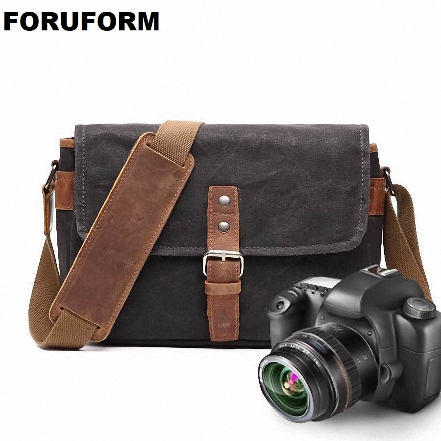 Toile imperméable multi-fonctionnelle numérique sac vidéo DSLR caméra sac à bandoulière démontage caméra sac de messager LI-2030
