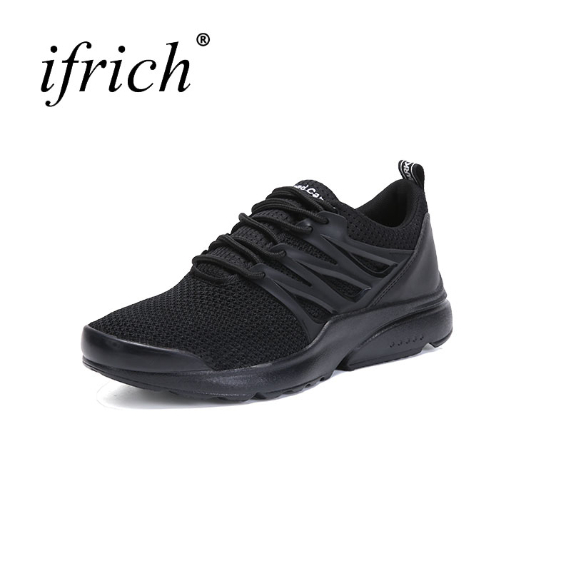 2017 Hot Spring Autumn Running Shoes Mens Sport Sneakers Black White Jogging Trainers Rubber Mens Sport Trainers