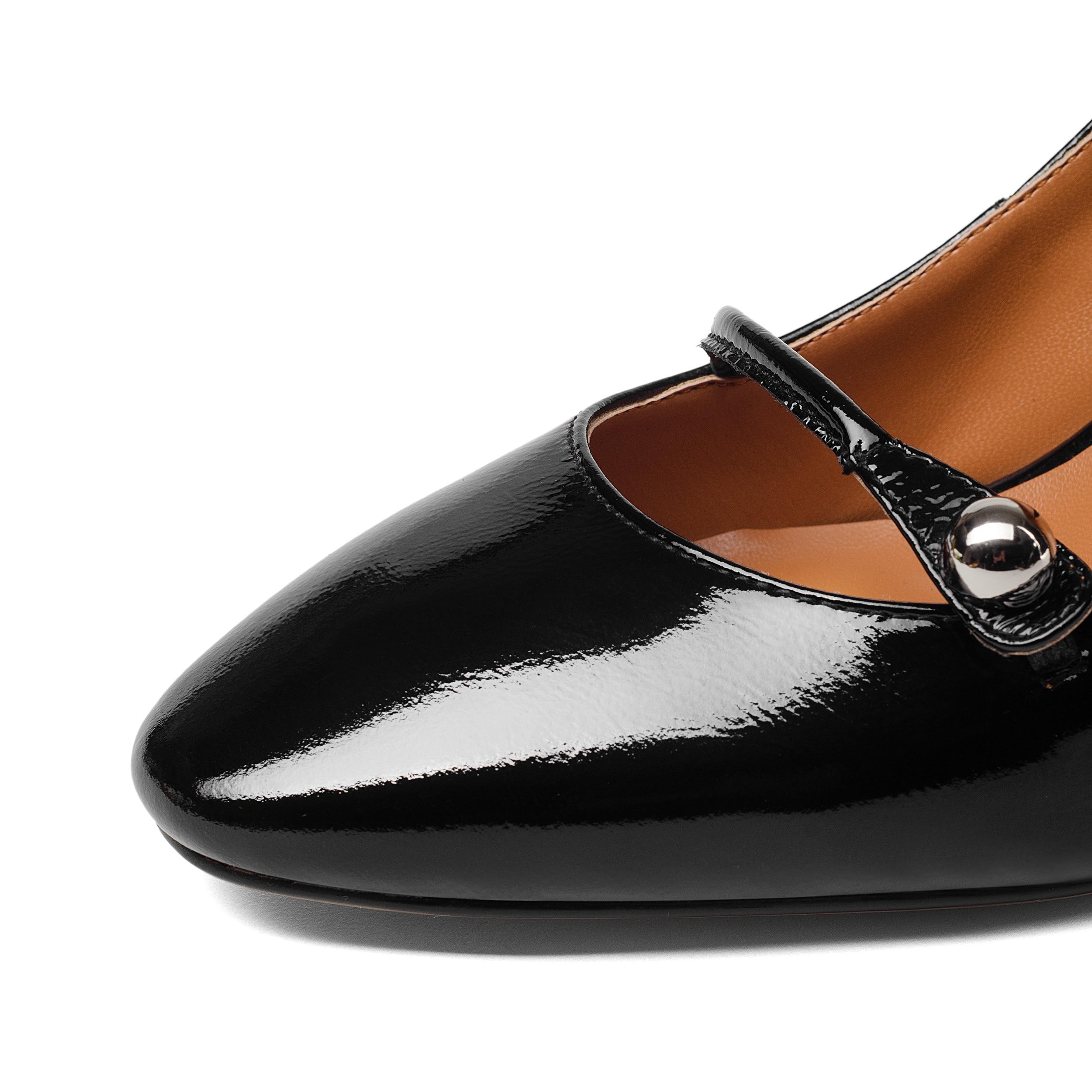Taille Femmes Talons jaune Véritable Épais Souliers Cuir Chaussures 8 Indaco À Hauts Cm Pour Grande Noir 2019 UxavFwdqUt