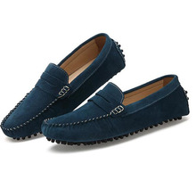 Men's Fashion Shoes Men Loafers Boat Shoes Male Flats Casual Shoe Trend Slip On Cow Split Moccasin Men Loafer Driving Shoes