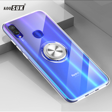 For Xiaomi Redmi Note 7 Case Cover Luxury Transparent Soft Silicone TPU Protection Ring Magnetism Phone