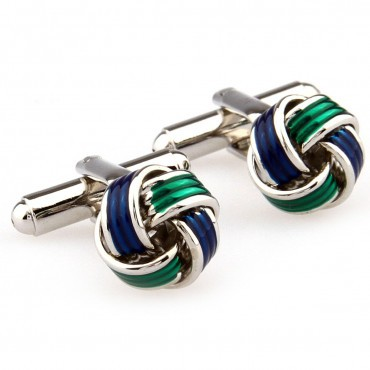 Two Color Knots Cufflink 15 Pairs Free Shipping