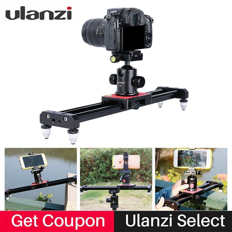 Ulanzi 40 cm Kamera Stativ Track Dolly Slider Video Stabilisator Schiene System für iPhone Nikon Canon DSLR für Youtube Film Filmmake