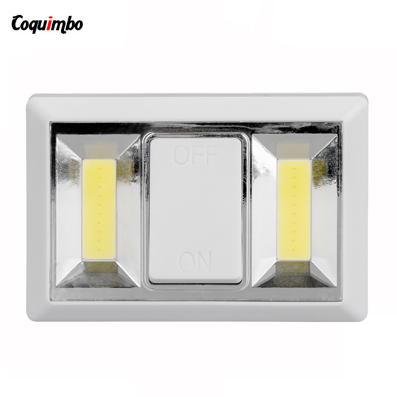 COB Night Light Luminaire LED Night Light Emergency Switch Battery Operated Cordless Light Wall Lamp For Wardrobe Cabinet cob led wall lamp rotary switch night light adjustable wireless closet cordless lamp battery operated wardrobe light