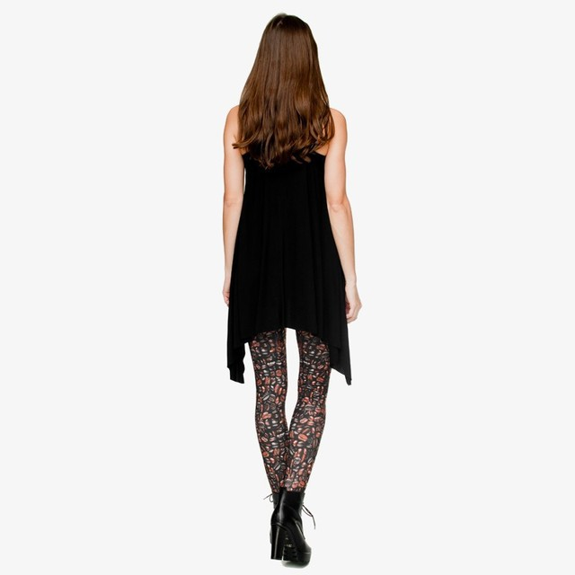 Funny Coffee Leggings Digital 3D Seam Print Polyester Women Leggings For Fashion Dress