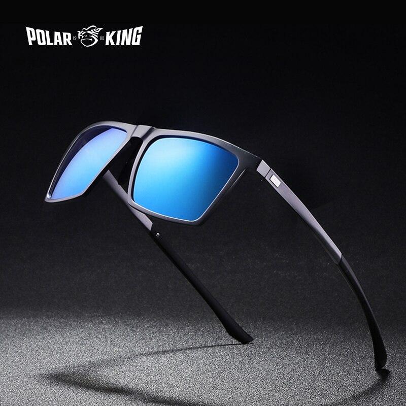 POLARKING Brand Designer Sunglasses Men Polarized Driving Aluminum Frame Traveling Sun Glasses Men's Eyewear Driving Oculos Gafa