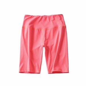 Image 5 - 夏ネオングリーンハイウエストショーツ女性ストレッチ弾性汗ピンク白黒バイカーパンツ赤ヴィンテージ女性ショートfeminino